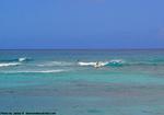ラニアケアビーチのサーファー
