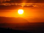 カエナ岬と夕陽